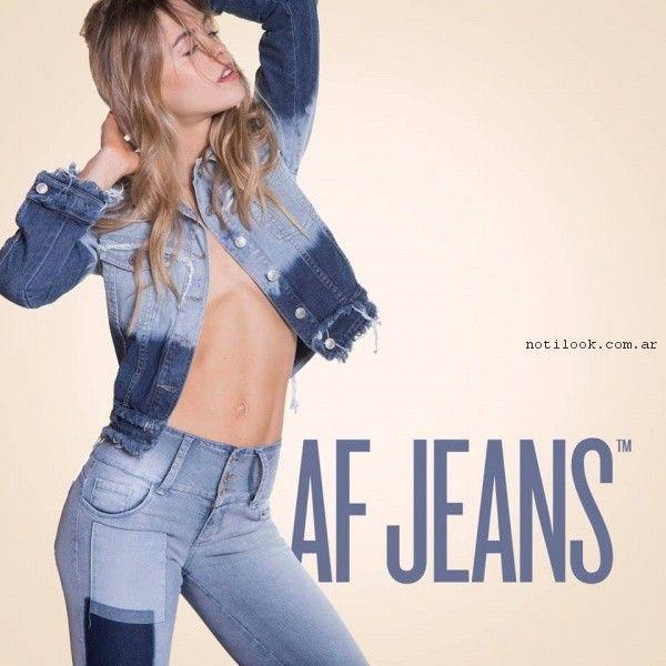jeans con parches af jeans primavera verano 2017