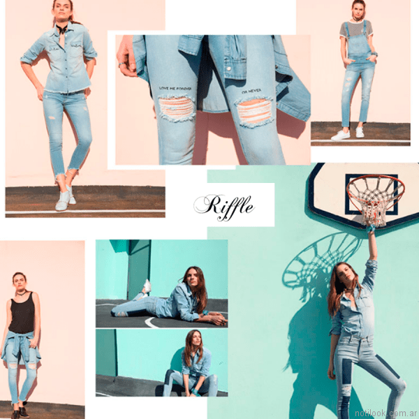 jeans con roturas o parches riffle jeans verano 2017