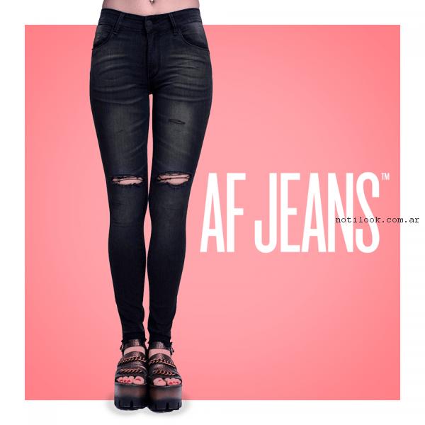 jeans rotos af jeans primavera verano 2017