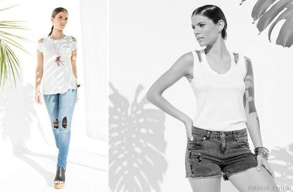 look con jeans rotos octanos jeans verano 2017