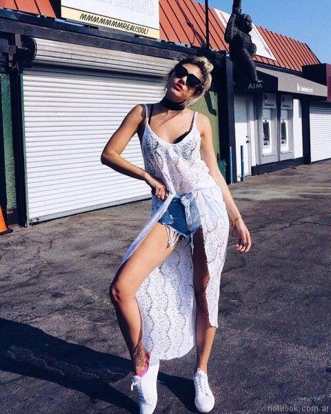 look con short de jeans las pochis verano 2017