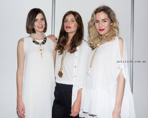 look en blanco y negro para señoras verano 2017 Adriana Costantini