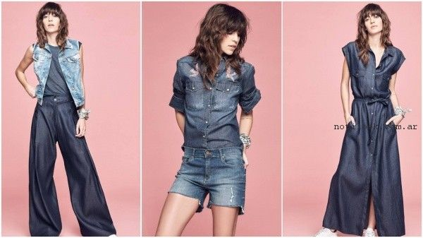 look total denim verano 2017