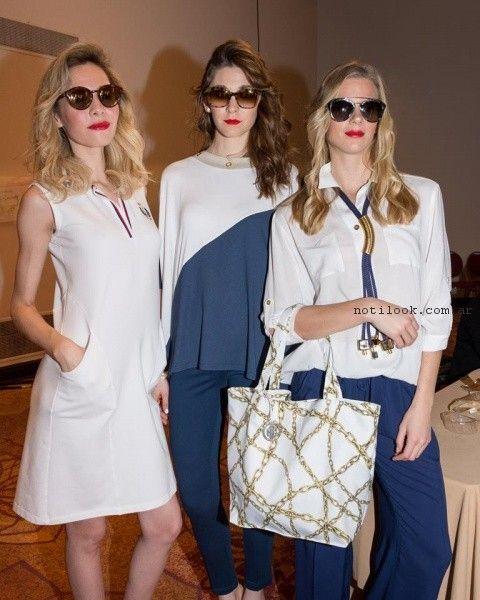 moda navy para señoras verano 2017 Adriana Costantini