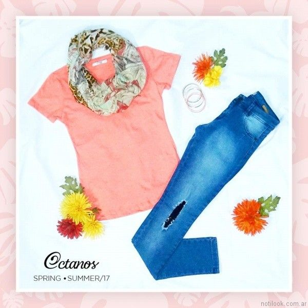 outfit casual octanos jeans verano 2017