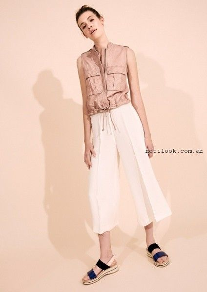pantalon de vestir crop pant Graciela Naum primavera verano 2017