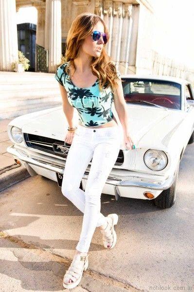 pantalon gabardina blanco kanikama jeans primavera verano 2017