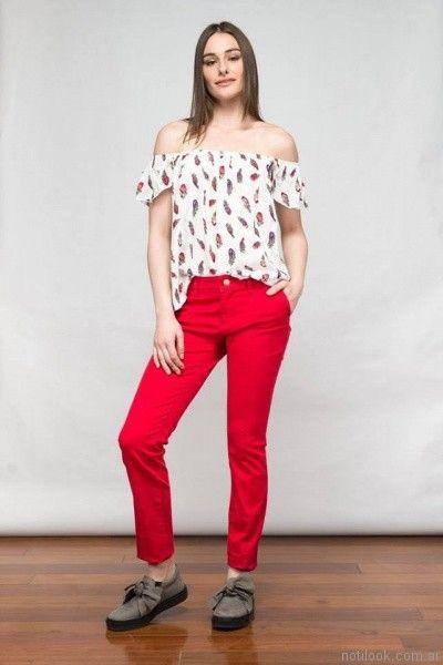 pantalones de gabardina de colores kill primavera verano 2017