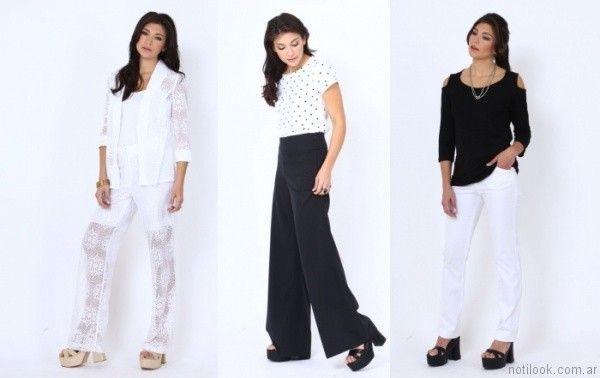 pantalones de vestir mujer etam verano 2017