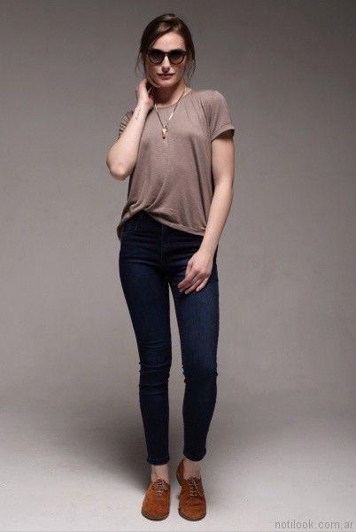 pantalones mujer viga jeans verano 2017
