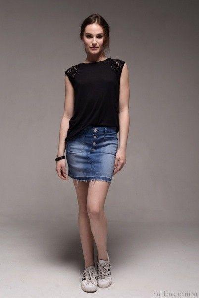 pollera viga jeans verano 2017