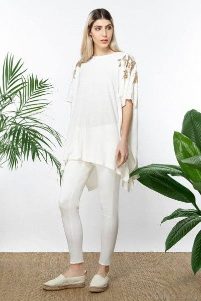 poncho blanco tejido millie primavera verano 2017