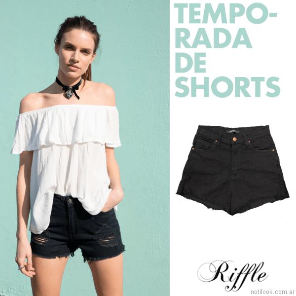 shores con roturas riffle jeans verano 2017