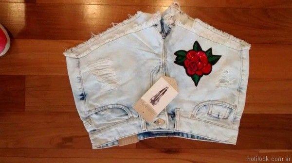 short bordado tuboos moda para teenager primavera verano 2017