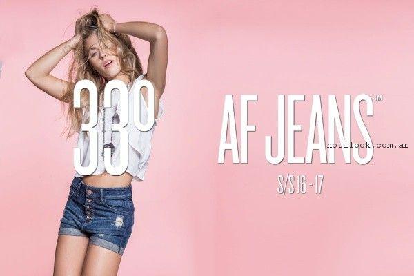 short de jeans af jeans primavera verano 2017