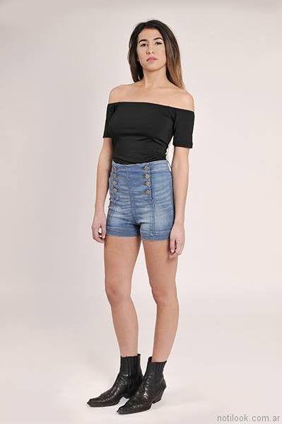 short de jeans tiro alto utzzia verano 2017
