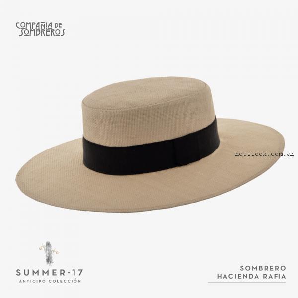sombrero rustico rafia compañia de sombreros primavera verano 2017