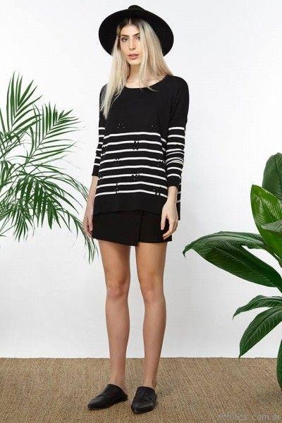 sweater a rayas tejido millie primavera verano 2017