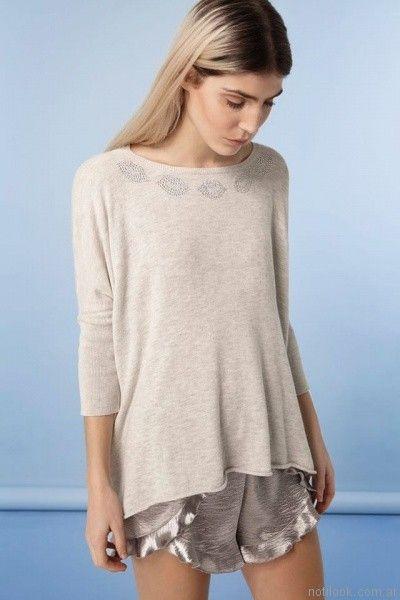 sweater gris oversize millie primavera verano 2017