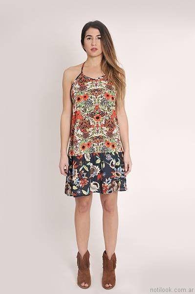 vestido corto estampado para el dia utzzia verano 2017