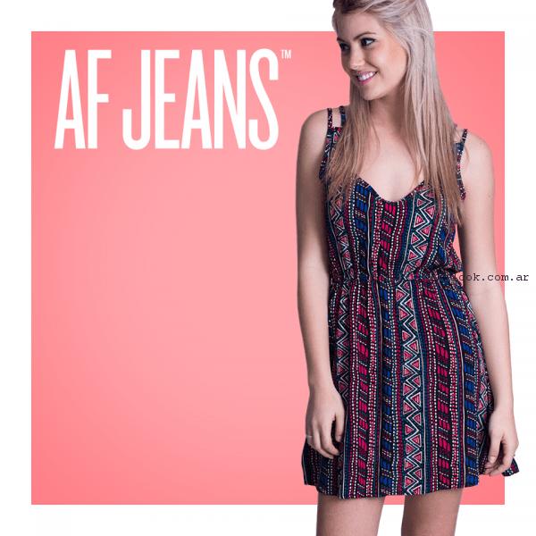 vestido estampado para el dia af jeans primavera verano 2017