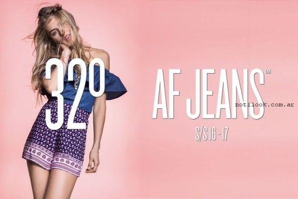 vestido para el dia af jeans primavera verano 2017