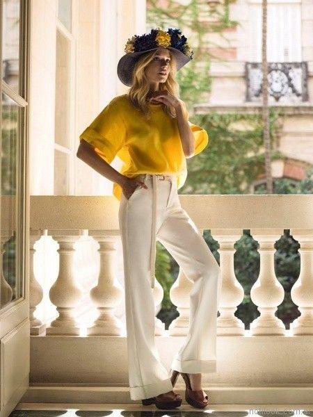 blusa amarilla cardon primavera verano 2017