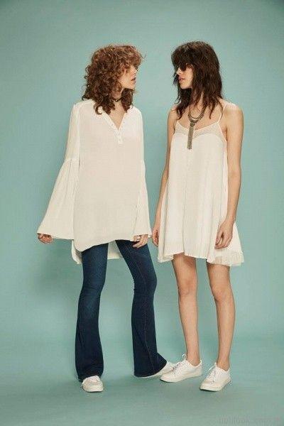blusa blanca y jeans oxford inversa verano 2017