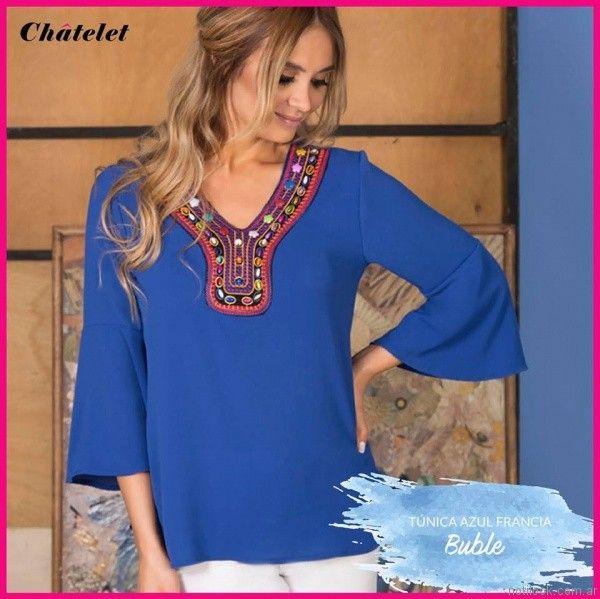 blusa estilo tunica para el dia chatelet verano 2017