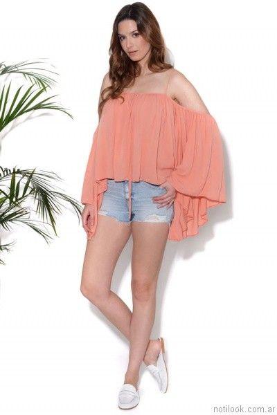blusas sueltas verano 2017 cenizas