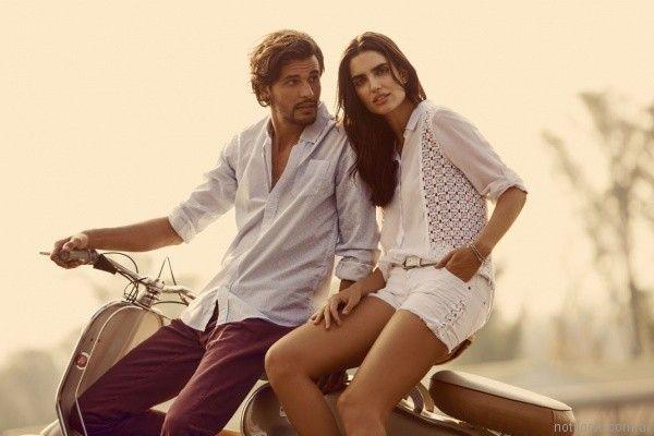 camisa blanca con guipur wrangler verano 2017