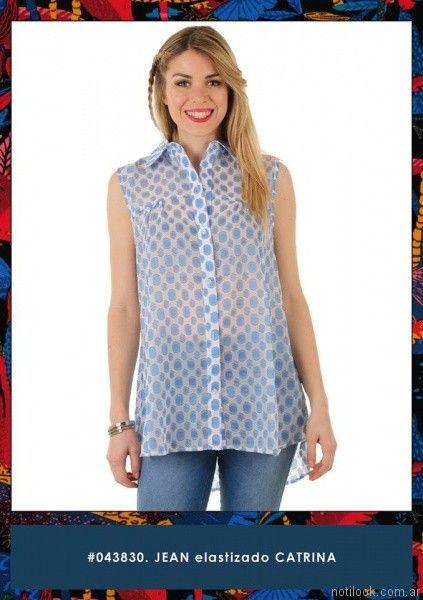 camisas estampadas cuesta azul verano 2017
