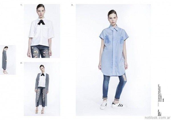 camisas para mujer uvha verano 2017