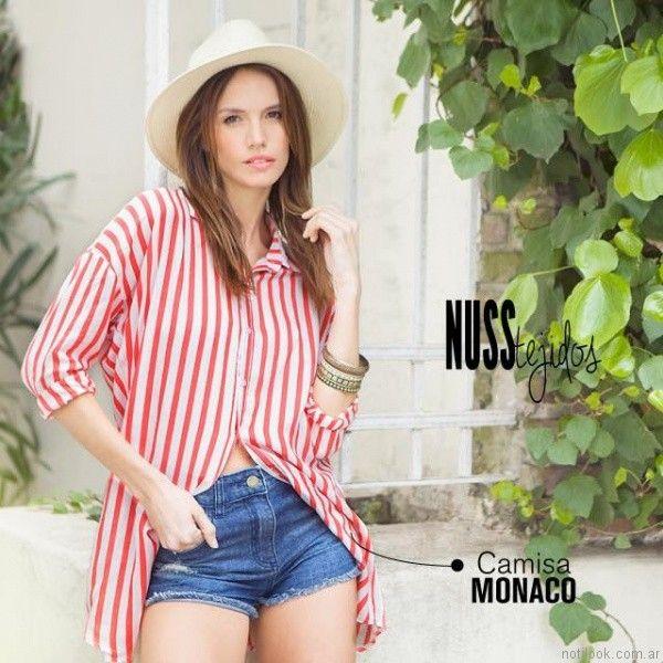 camisas para mujer de fibrana nuss tejidos primavera verano 2017