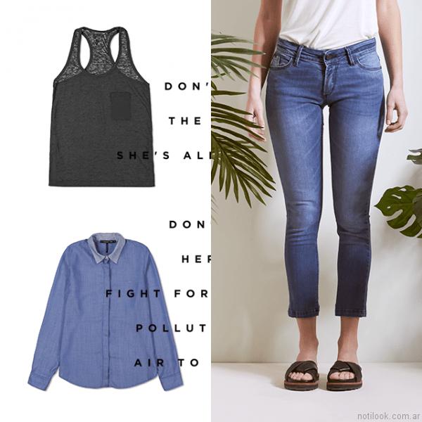 jeans capri oassian primavera verano 2017
