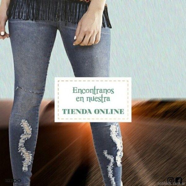 jeans con roturas kodo jeans primavera verano 2017