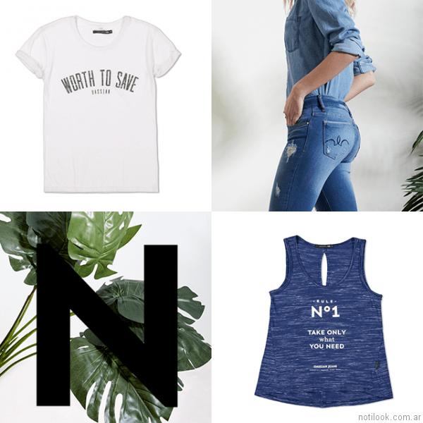 jeans con roturas oassian primavera verano 2017