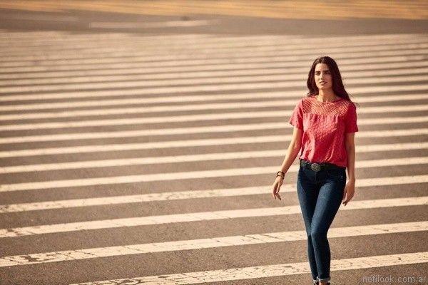 jeans mujer elastizado wrangler verano 2017