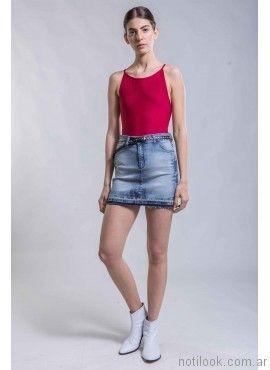 minifalda de jeans ona saez verano 2017