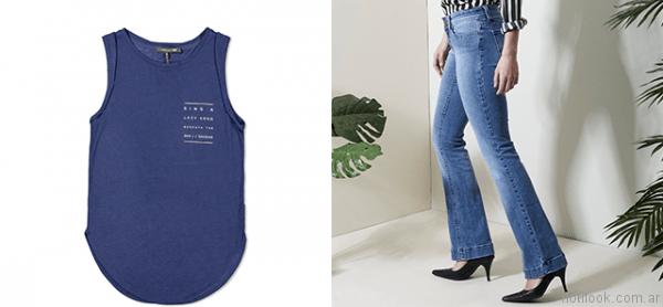 outfit con jeans oassian primavera verano 2017