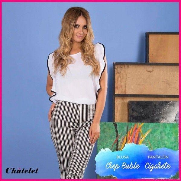 pantalones a rayas chatelet verano 2017