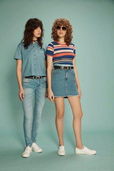 pollera de jeans inversa verano 2017
