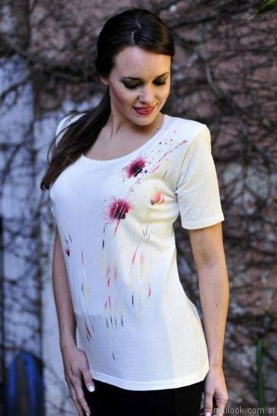 remera con sublimados mujer di madani sweaters verano 2017