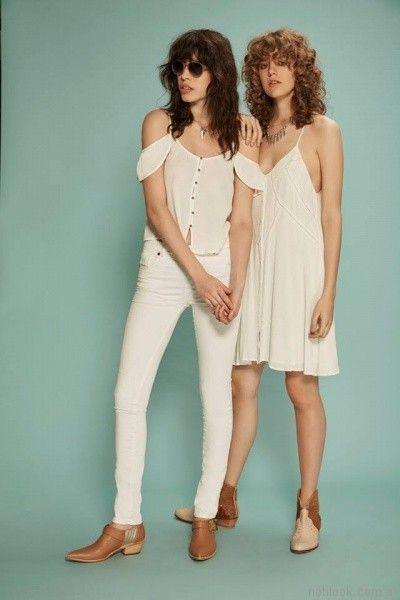 vestido blanco para el dia inversa verano 2017