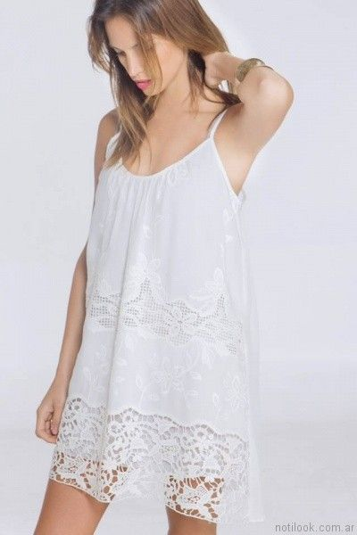 vestido corto calado nuss tejidos primavera verano 2017