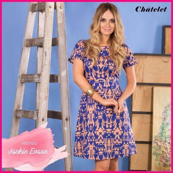 vestido de gabardina para el dia chatelet verano 2017