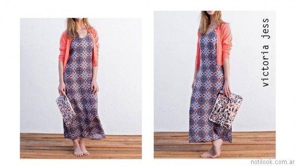 vestido largo para el dia victoria jess primavera verano 2017