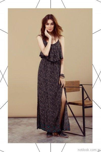vestido largo para el dia julien verano 2017
