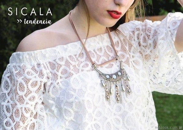 blusa de guipur sicala verano 2017