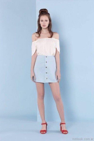 blusa juvenil sin hombros yosy lovers verano 2017